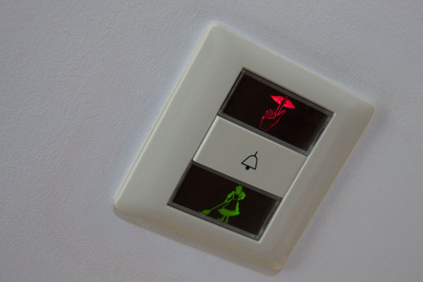 Room bell switch, «Do not disturb»,   «Please clean room» indicators